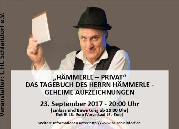 """""""HÄMMERLE - PRIVAT"""" DAS TAGEBUCH DES HERRN HÄMMERLE - GEHEIME AUFZEICHNUNGEN"""